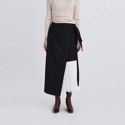 unbalance pleats detail skirt (2colors)