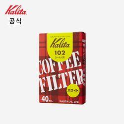 칼리타 카페의 커피  커피필터 102 40매 화이트