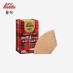 칼리타 카페의 커피  커피필터 101 100매 브라운