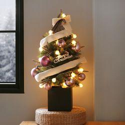 리본 스윙 박스 트리 SET(4color) 60cm+눈꽃전구(건전지용)