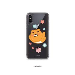 카카오프렌즈 아이폰 XS MAX 꽃 하이브리드 케이스