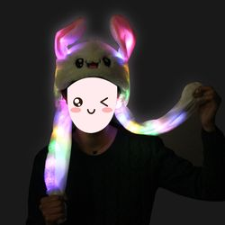 LED 움직이는 토끼모자 귀모자