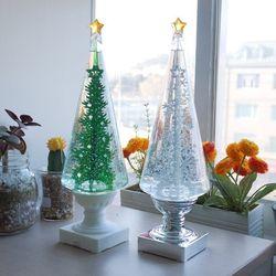 크리스마스 콘 트리 LED 워터볼(2color)