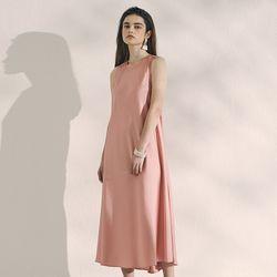 SATIN FLUID DRESS PINK