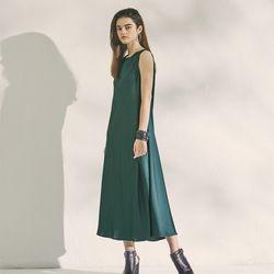 SATIN FLUID DRESS GREEN