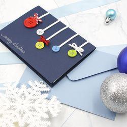 캘리그라피 핸드메이드 크리스마스 카드 알록달록 장식 3종세트