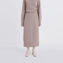 chrome soft knit skirt (3colors)