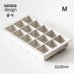 사라사디자인 실리콘 얼음틀 트레이 M 화이트