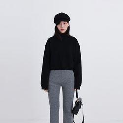high neck crop knit (2colors)