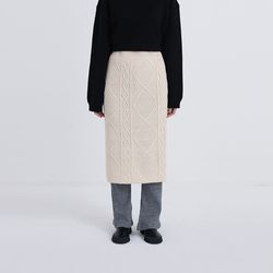 compact twist knit skirt (3colors)