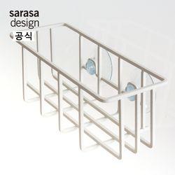 사라사디자인 키친와이어 싱크대정리 포켓 화이트