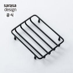 사라사디자인 와이어 비누받침대 욕실용품 블랙