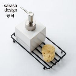 사라사디자인 와이어 트레이 욕실용품 블랙
