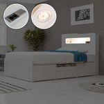 에단 듀얼포트 LED 수납 침대(SS)