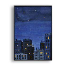 푸른 밤 (잠들지 않는 도시의 밤)