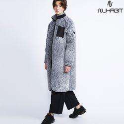 뉴해빗 - 뽀글이 양털 벤치 롱 코트(안감누빔) - 3color