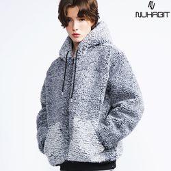 뉴해빗 - 뽀글이 양털 후드집업(안감누빔) - 3color