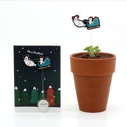 크리스마스 씨앗카드 썰매