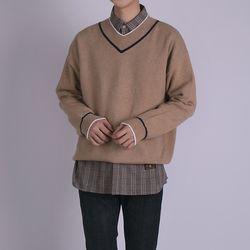 캐시미어 브이넥 스웨터