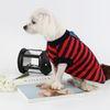 (국내산) 강아지옷 - 티셔츠 (레드-네이비 스트라이프)
