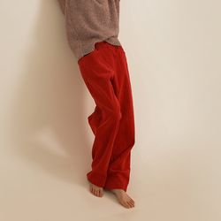 corduroy free button pants (4colors)