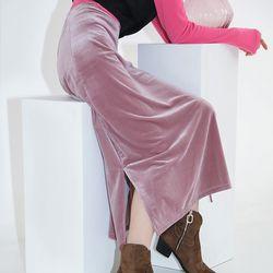 queen velvet long skirt (3colors)
