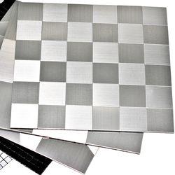 접착식 주방 알루미늄 메탈 타일