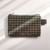 fabric simple zipped wallet vintage green wool check