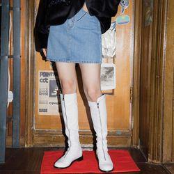 denim mini skirt (4 color)