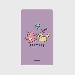 [보조배터리] Strolls-purple-5000mah