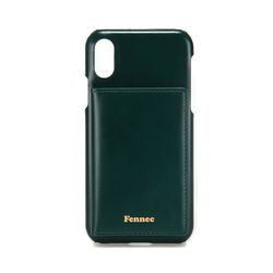FENNEC LEATHER iPHONE XS POCKET CASE - MOSS GREEN