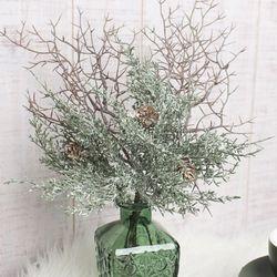 스노우 솔 나무가지 묶음 조화