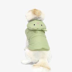 [한정판] 라이트 웜 토끼 패딩 카키