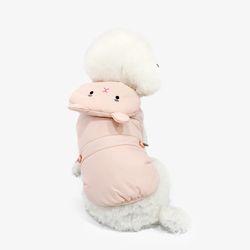 [한정판] 라이트 웜 토끼 패딩 핑크