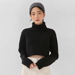 chance crop wool polar knit