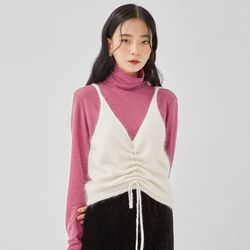 angora knit bustier
