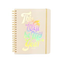 2019 large 12 - month annual planner - this will be my year