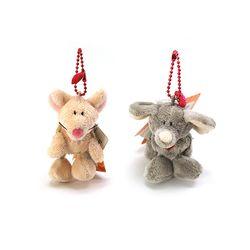 맥스앤밀리-7 cm 빈백 - 쥐와코끼리