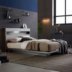 아델리오 LED 조명 퀸사이즈 침대 + 라텍스매트리스