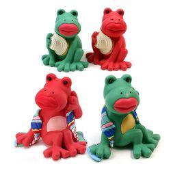 홀더 -밀집모자 개구리와 타월두른 개구리 4종택1