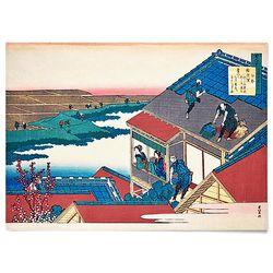 중형 패브릭 포스터 일본 동양화 그림 액자 가츠시카 6