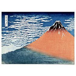 중형 패브릭 포스터 일본 그림 인테리어 액자 가츠시카 9
