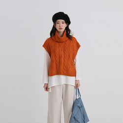 spare twist knit vest (4colors)