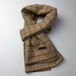 Monica check scarf (Beige)