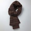 Monica check scarf (Dark brown)