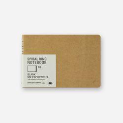 SPIRAL RING NOTEBOOK (B6) MD White