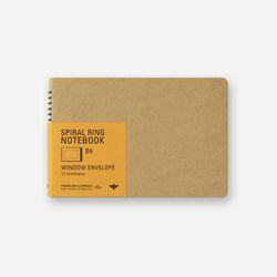 SPIRAL RING NOTEBOOK (B6) Window Envelop