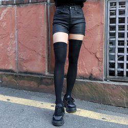3363 트루 블랙 코팅 숏 팬츠