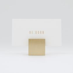 황동 골드 명함꽂이 메모홀더 - 사각