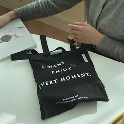 enjoy every moment bag ( black )